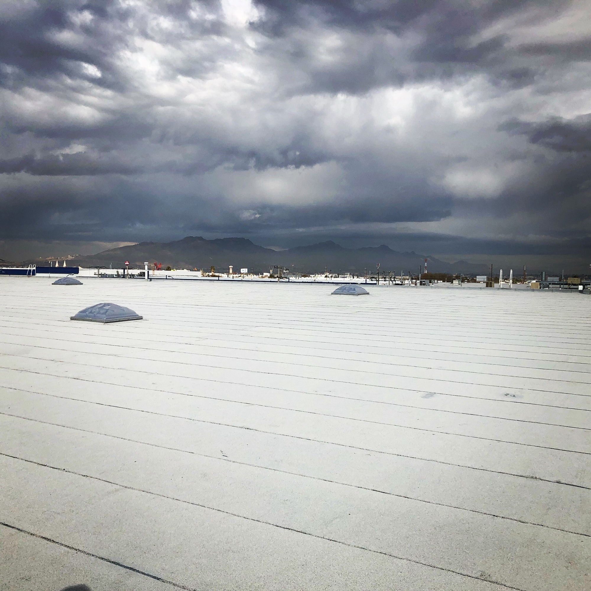 Cloudy over the roof